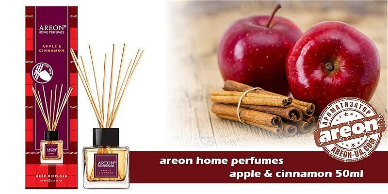 New!!! Areon Home Perfumes Apple & Cinnamon 50ml