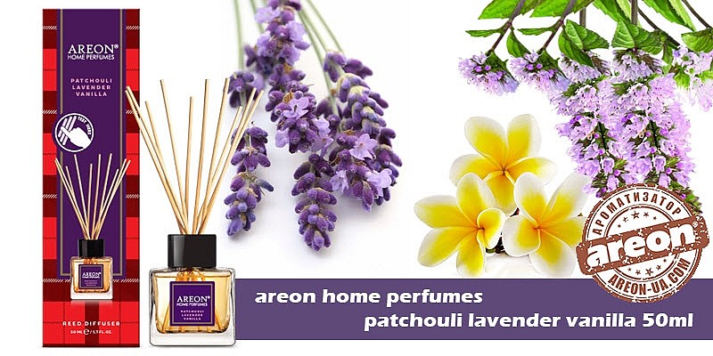 New!!! Areon Home Perfumes Patchouli Lavender Vanilla 50ml