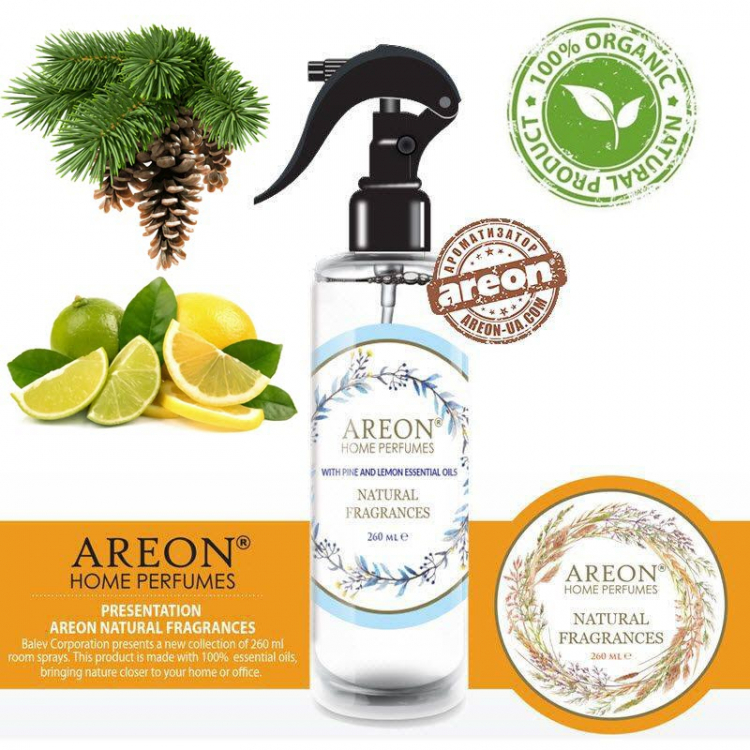 Ароматизатор Areon Natural Fragrances Pine Lemon 260мл